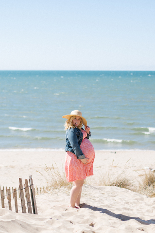 lake michigan holland maternity photography